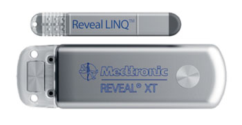 Image: The Medtronic Reveal LINQ ICM and the Reveal XT (Photo courtesy of Medtronic).